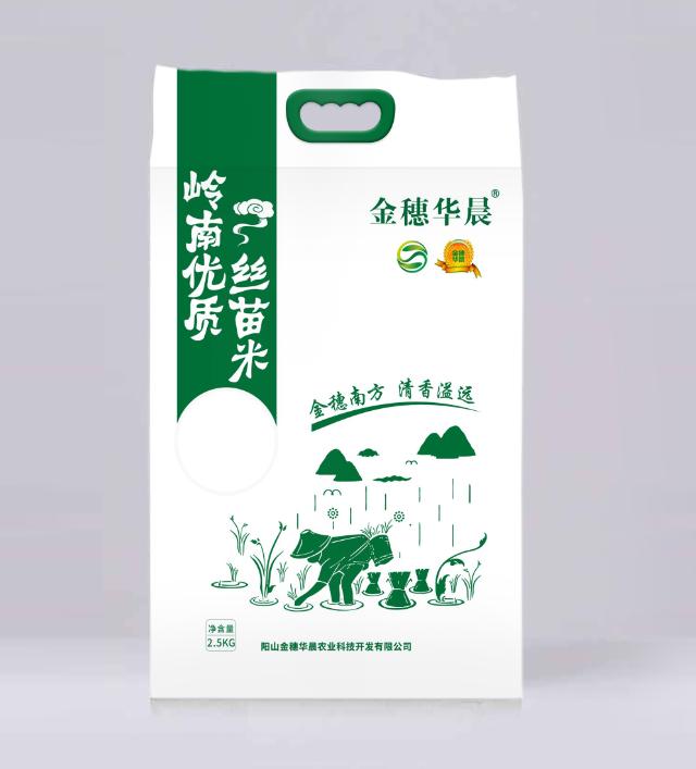 """""""金穗华晨""""5斤装晚造优质丝苗米"""